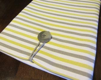 iPad Sleeve- Grey and white stripe-Clearance