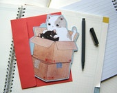 Birthday Card - Cute Cats in Boxes - Gotcha!