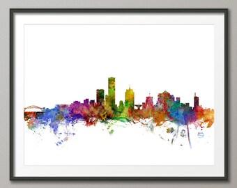Milwaukee Skyline, Milwaukee Wisconsin Cityscape Art Print (1216)