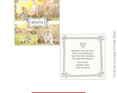 INSTANT DOWNLOAD  -  Multipurpose Card Photoshop Template - Believe - E199