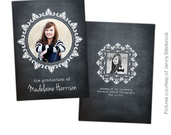 INSTANT DOWNLOAD  - Graduation announcement - Photoshop Templates - E400