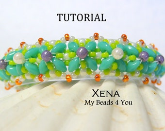 PDF Beading Tutorial, Beaded Bracelet Pattern, Jewelry Tutorial, Pattern, Seed Bead Tutorial,Beading Instructions, Superduo Tutorial, Beads