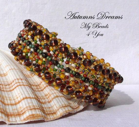 Beadwork Bracelet, Seed Bead Bracelet, Embellished Bracelet, Beadwoven Bracelet, Beaded Jewelry, Gift