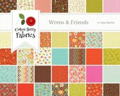 Wrens and Friends Charm Pack by Gina Martin for Moda - One Charm Pack - 10000PP