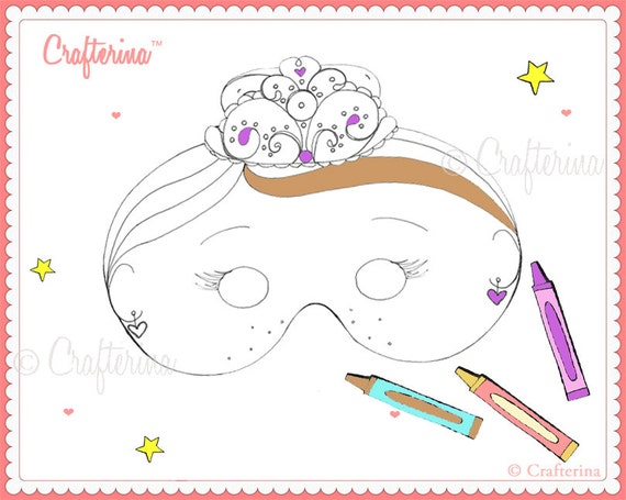Printable Color And Create Sugarplum Fairy Mask Kit For Parent
