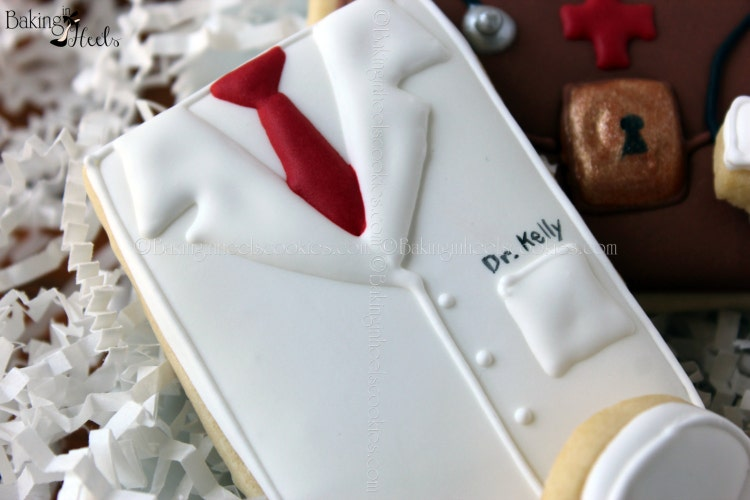 Medical Decorated Cookies White Doctor S Coat By Bakinginheels