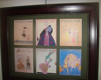 VANITY FAIR MAGAZINE Covers + Ladies Home Journal covers in frames