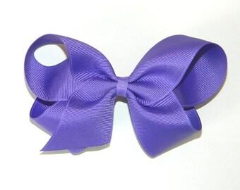 Bright Purple Large Hair Bow