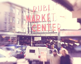 Seattle photography Pike Place Market Elliott Bay photo of