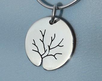 Silver Jewelry, Silver Jewellery, Silver Pendant, 'Winter Tree',