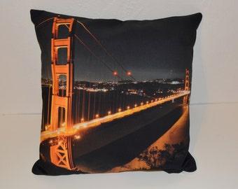 Golden Gate San Francisco Pillow