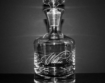 Personalized Crystal Whiskey Decanter - Groomsmen Gifts