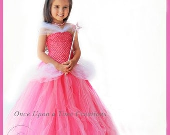 Pink Fairytale Princess Tutu Dress - Birthday Outfit Halloween Costume - 12M 2t 3t 4t 5 6 7 8 10 12 - Girly Hot & Light Pink Childrens Size