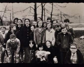 Original Antique Photograph Field Trip