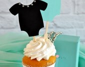 Breakfast at Tiffany's Inspired Onesie Cupcake Toppers
