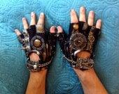 "Men's ""THUNDERDOME"" Moonhoar Monster Gloves- Steampunk, Mad Max, Road Warrior, Burning Man, Dragon Con, Wasteland, Medieval, Viking"