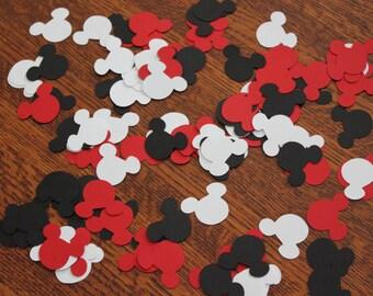 Mickey Mouse - Confetti - Red - Black - White