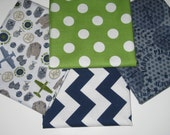 4 Fat Quarter Set of Riley Blakes Premium Cotton Fabrics