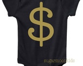 NEW* Money Sign Black/Gold Baby