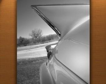 Cadillac Art, Tail Fins, 50s Cars, Man Cave Art, Cadillac Photograph, Boyfriend Gift, Old Car Picture, Automobile Art, Automotive Print