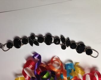 D&E aka Juliana Black 5 Link Bracelet   Item No: 16975