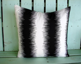 New black, white stripe premier print pillow cover-dorm room-accent pillow-college gift- decorative pillow cover-gifts under 40-throw pillow