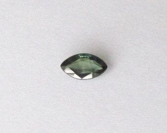 Genuine Green Sapphire, Marquise Cut, 0.85 carat