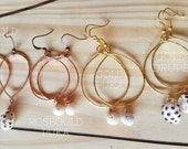 Simple Hammered Shell Hoops