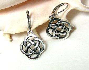 Celtic Knot Jewelry, Silver Celtic Earrings, Celtic Design Earrings, Celtic Symbol, Celtic Jewellery for Her, Christmas Gift Under 25