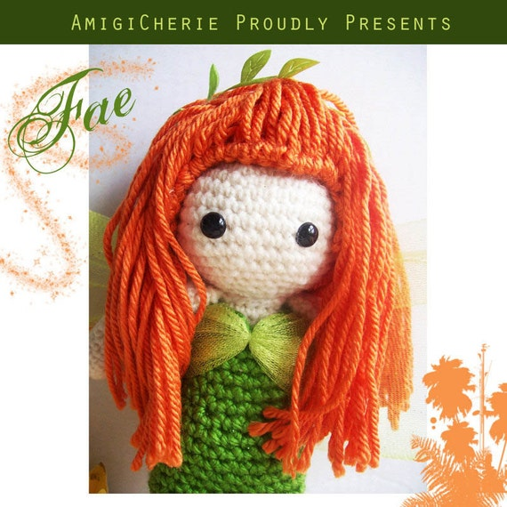 Crochet Doll - Fae - The Green Fairy