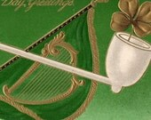 Beautiful Antique St Patrick's Day Postcard Early 1909