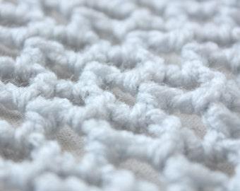 "Steel Grey ""Lovey Corral"" - Crochet Toy Hammock - Stuffed Animal Organizer"