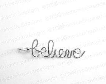 Believe Necklace - Christian Jewelry - Faith Jewelry - Christian Gift - Scripture Jewelry - Bible Verse Jewelry - Inspirational Jewelry