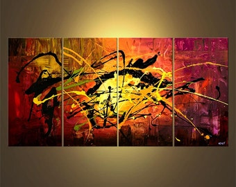 """Original Contemporary Abstract Acrylic Painting on Canvas by Osnat - MADE-TO-ORDER - 60""""x30"""""""