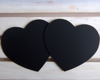 2 Chalkboard Large Hearts for Rustic Wedding Decor Photo Booth Prop, Engagement Pictures Props, Pregnancy Props or Baby Milestones