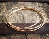 Delicate Gold Bangle / 14k Gold Filled Bangle Bracelet / Set of Gold Bangles