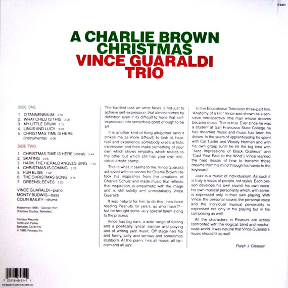 A CHARLIE BROWN CHRISTMAS Vince Guaraldi Trio Classic Factory