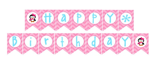 Winter Happy Birthday Banner Images & Pictures - Becuo