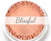 "Peachy Pink Blush Sample - ""Blissful"" (.75g Net wt) - Vegan Matte Blush"