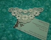 1 White Venise Lace Yokes Collar Appliques for jewelry, bridal, wedding, altered couture, necklaces, bridal by MarlenesAttic - APP108