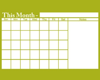 monthly whiteboard dry erase boardcalender office