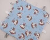 Monkey Tag Ribbon Blanket Baby Boy Gift