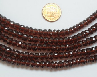 Garnet Rondelles Faceted