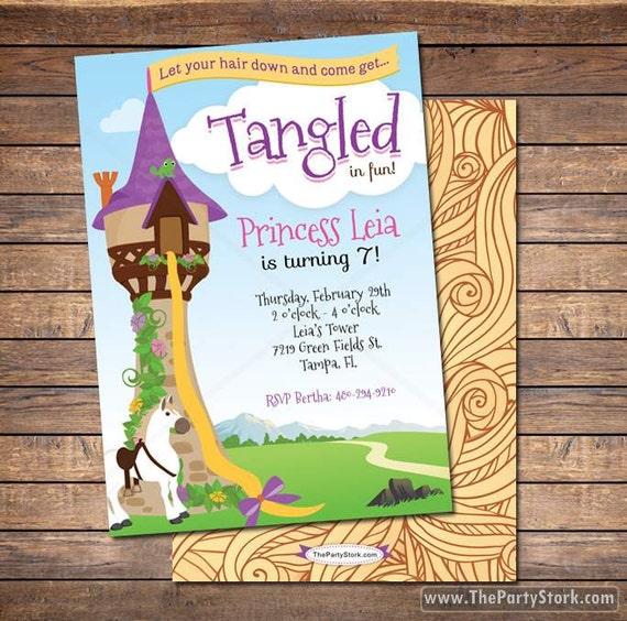 Tangled birthday invitation tangled invitation rapunzel invitation il570xn filmwisefo