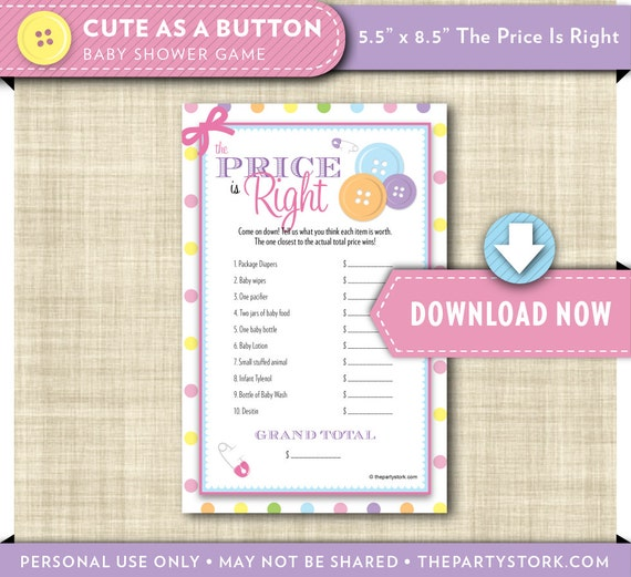 girl baby shower games cute as a button baby shower theme price is