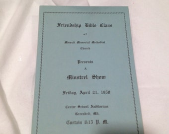Black Americana Minstrel Show 1950 Greenbelt Md Maryland History