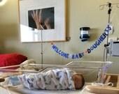 Welcome Baby XYZ - Custom Baby Shower Banner -- Decoration / Photo Prop