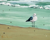 "ACEO Gull Seagull Ocean Shore  2.5""x3.5"" archival print Miniature SIGNED 31 by Alison Vernon"