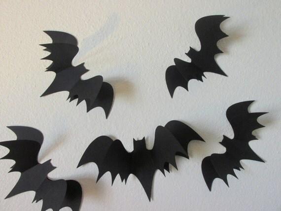 lampadario origami : Lampadario Origami 3d : Bat Silhouette Wall Art