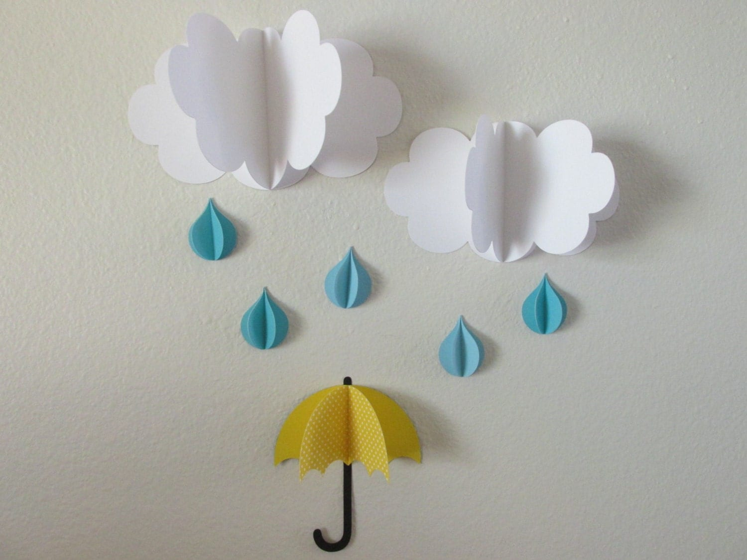 3d wall art 3d baby room decoration wall art 3d clouds for How to make a paper cloud